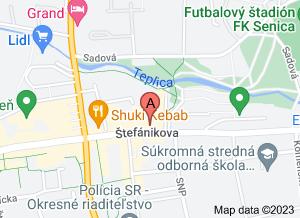 mapa Očná ambulancia