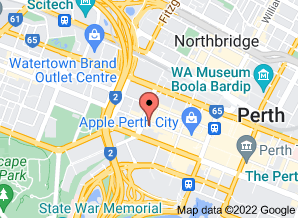 Map of Tony Roma's Perth - click for larger map