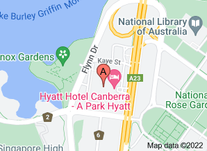 Map of Hyatt Hotel Canberra - click for larger map
