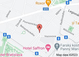 mapa MUDr. Ivana Filová