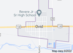 Ovid, Colorado from Google Maps