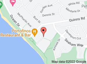 Map of Portofino's restaurant, Mindarie - click for larger map