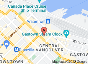 Google map of SFU Harbour Centre in downtown Vancouver