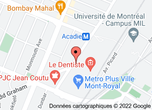 map Montreal Podiatry Clinic