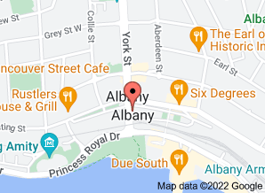 Map of The Wild Duck, Albany. Click for larger map