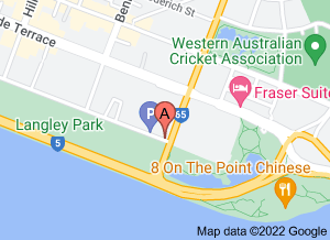 Map of Friends Restaurant, East Perth - click for larger map