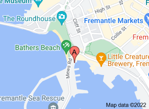Map of Kailis Fish Market Cafe, Fremantle - click for larger map