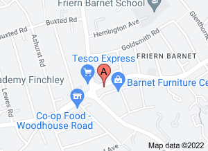 Google map: Friern Barnet Dental Clinic's location
