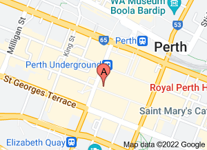 Map of Jaws Sushi, Hay St Mall - click for larger map