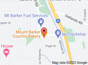 Map of Mt Barker Country Bakery. Click for larger map