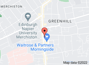 Google map indication location of Context Interiors at 79 Morningside Road Edinburgh