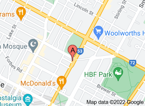 Map of P'tite Ardoise Bistro, Highgate - click for larger map