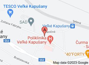 mapa Očná ambulancia a optika