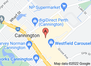 Map of Westfield Carousel, Cannington - click for larger map