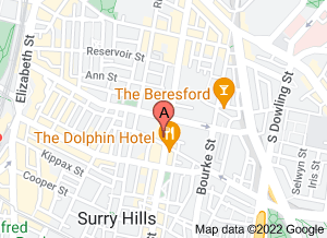 Map of bills, Surry Hills. Click for larger map