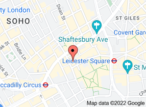 Google map: Leicester Square Dental Clinic's location