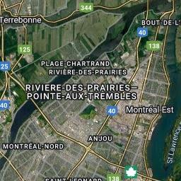 Montreal Temperature Map